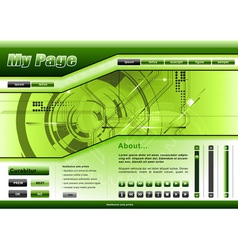 web template tech theme vector image