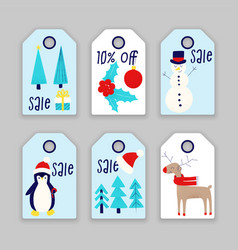 winter sale christmas and new years vector image