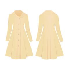 woman beige coat vector image