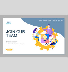 workers collaboration company innovation vector image