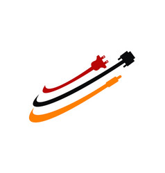 World computer cable vector