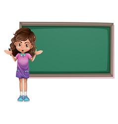 Cut kid with blackboard vector image vector image