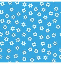 David star hanukkah seamless pattern vector image