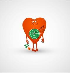 Heart is love target vector