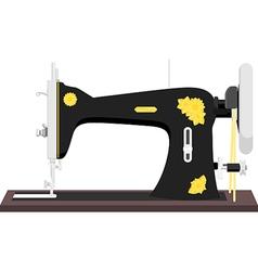 vintage sewing machine vector image