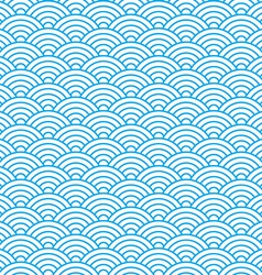 waves seamless pattern in china ancient style vector image