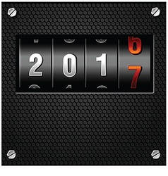 2017 New Year Analog Counter vector image