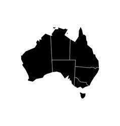 Black map of Australia vector image vector image