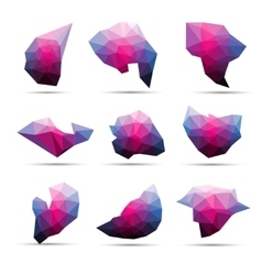 colorful abstract geometric 3d stone shape vector image