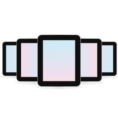 Digital tablet computer vector image