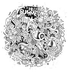 Doodles abstract decorative summer vector