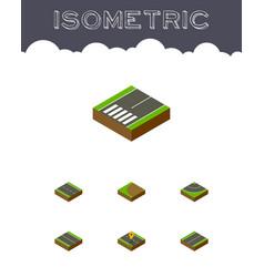 Isometric way set of plane navigation turning vector