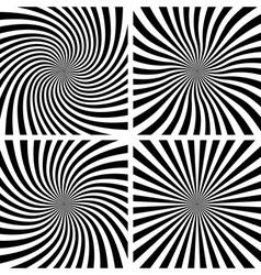Set of Spiral backgrounds vector image