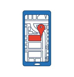 smartphone with navigation gps mobile application vector image