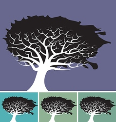 Tree splat background vector image vector image
