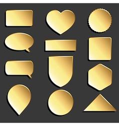 Yellow icons set vector