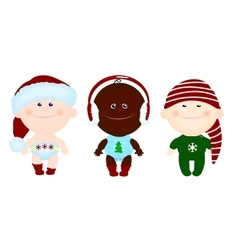 children kids christmas clothes vector image vector image