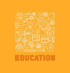 education concept in trendy linear style vector image vector image