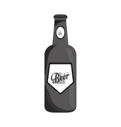 grayscale bottle of beer icon design vector image vector image