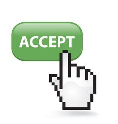 Accept button vector