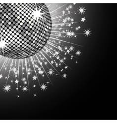 gold disco ball and stars vector image