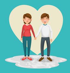 happy couple design vector image