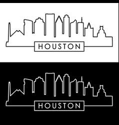 houston skyline linear style vector image