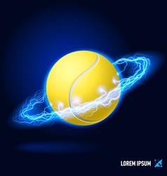 Tennis high voltage vector image vector image