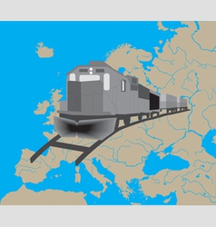 Train in Europe vector image