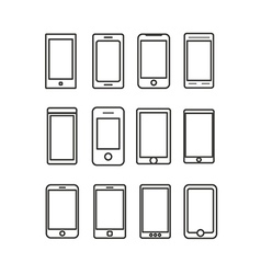 Abstract different mobile gadgets collection vector