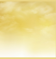 abstract of realistic clouds pattern on gold sky vector image