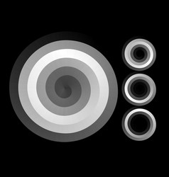 Abstract spiral background black and white vector