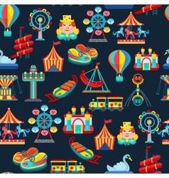 Amusement park seamless pattern vector