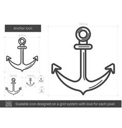 Anchor line icon vector