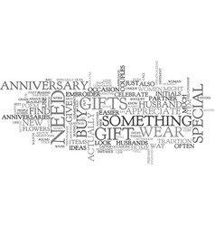 anniversary gift ideas for parents text word vector image