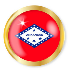 Arkansas flag button vector