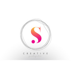 Artistic s letter logo design with creative vector