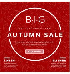 Autumn big sale retro flyer vector