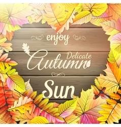 Autumn typography poster EPS 10 vector