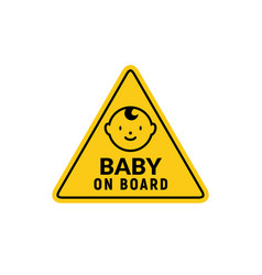 baon board sign icon child safety sticker vector image