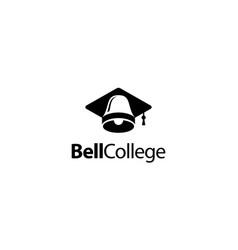 bell college logo design concept vector image
