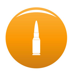 Big bullet icon orange vector