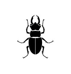 Black silhouette beetle vector