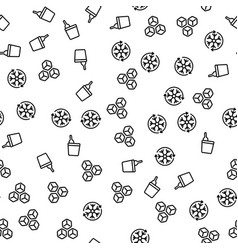 bottle ice bucket cool off seamless pattern vector image