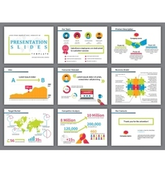 Business colourful infographics presentation vector image