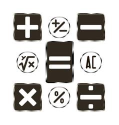 button calculator vector image