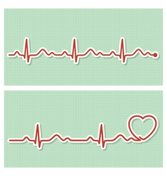 Cardiogram banners vector