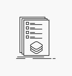 Categories check list listing mark line icon vector