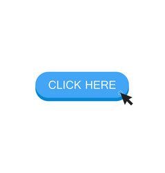 click here button with mouse clicks on an object vector image