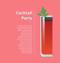cocktail party poster bloody mary banner vector image